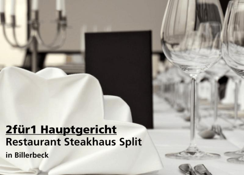 2für1 Hauptgericht - Restaurant Steakhaus Split - Nach Ausdruck maximal 30 Tage gültig!!!