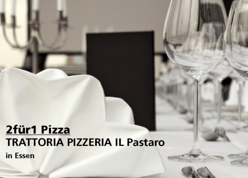 2für1 Pizza - TRATTORIA PIZZERIA IL Pastaro - Nach Ausdruck maximal 30 Tage gültig!!!