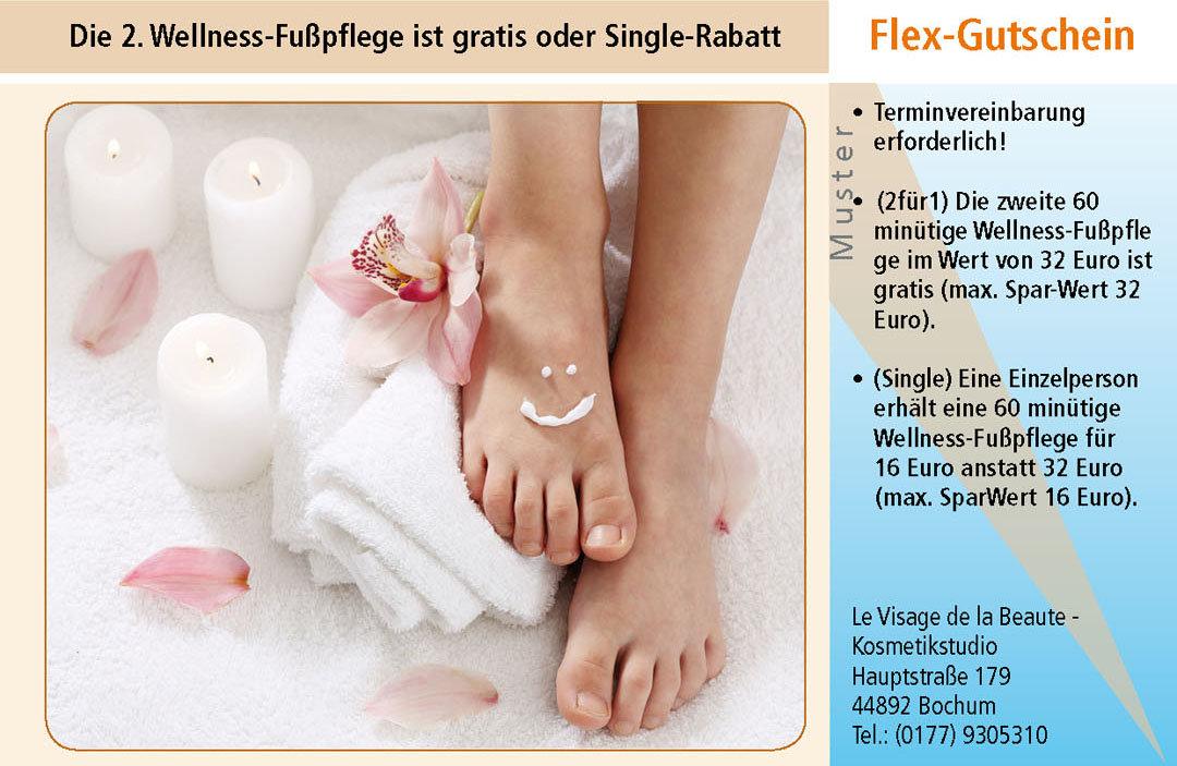 Gutschein Fußpflege im Ruhrgebiet Bochum