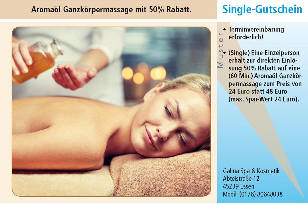 Gutschein Ruhrgebiet Massage Galina Spa & Kosmetik