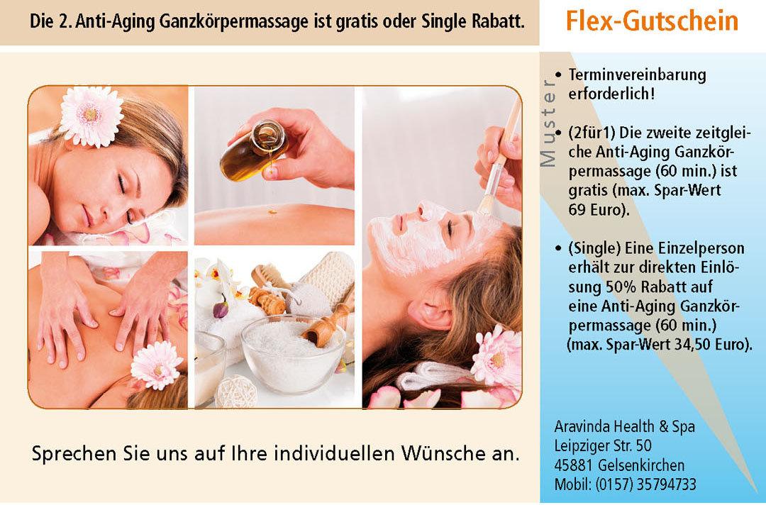 Wellness Gutschein Massage Anti-Aging