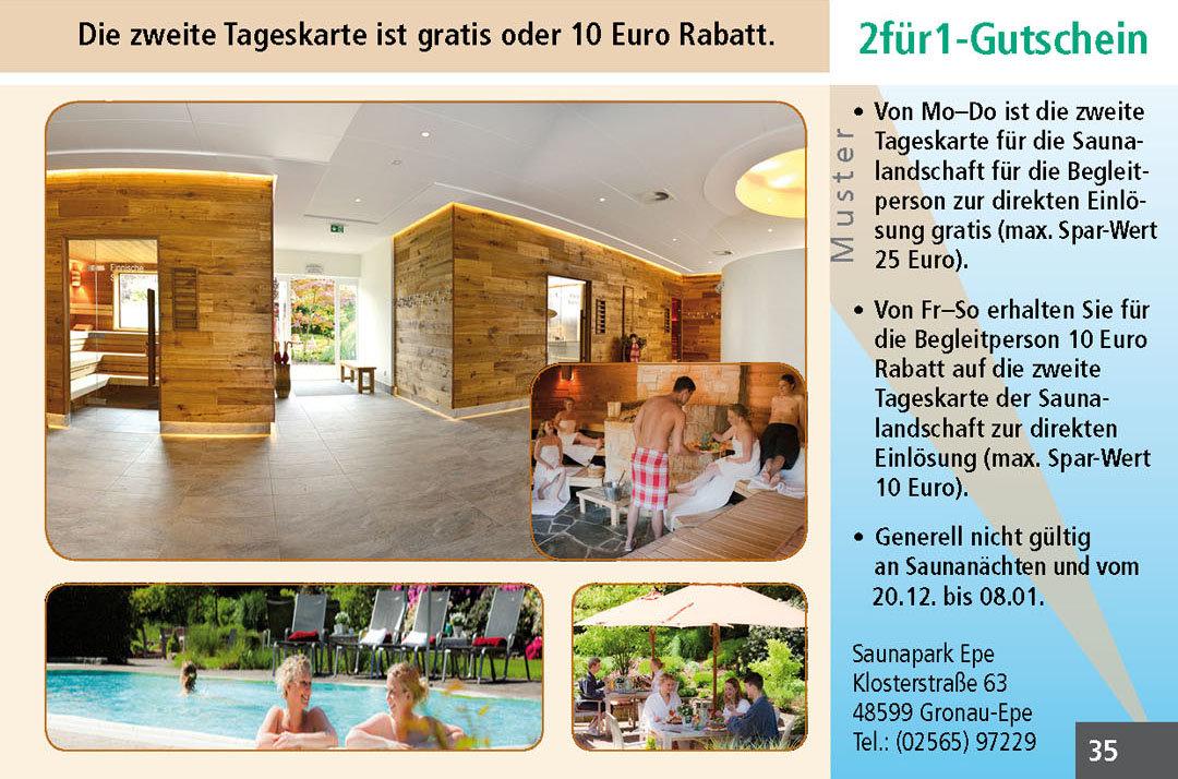 Sauna Gutschein Ruhrgebiet Saunapark Epe