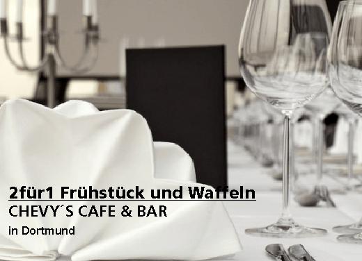 2für1 Gutschein Frühstück und Waffeln - CHEVY´S CAFE & BAR in Dortmund