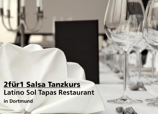2für1 Salsa Tanzkurs - Latino Sol Tapas Restaurant - Nach Ausdruck maximal 30 Tage gültig!!!