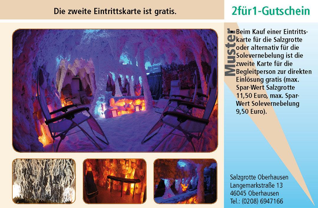 2 für 1 Gutschein-Ruhrgebiet-Salzgrotte-Oberhausen