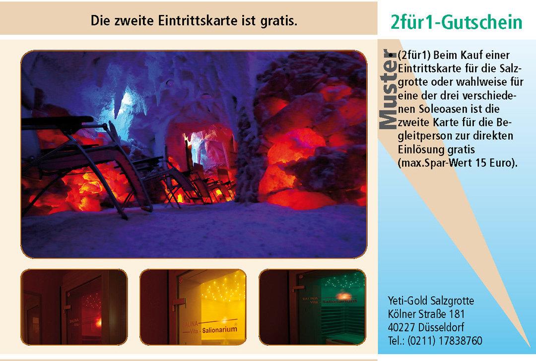 2 für 1 Gutschein-Ruhrgebiet-Yeti-Gold-Salzgrotte