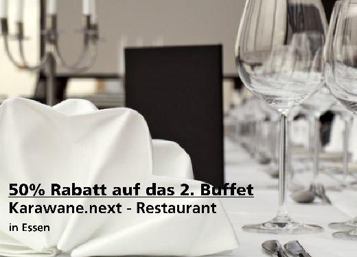 2für1 Gutschein 50% Buffet - Karawane.next - Restaurant in Essen