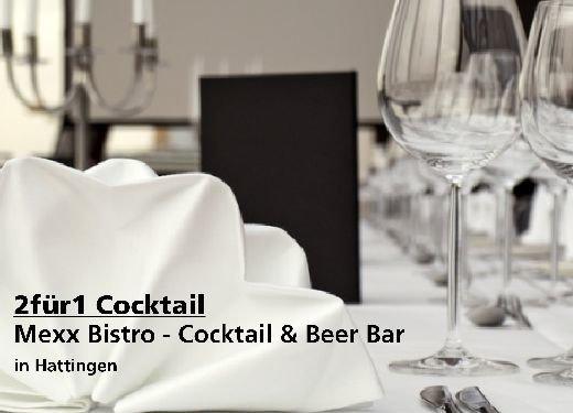 2 für 1 Gutschein Cocktail - Mexx Bistro - Cocktail & Beer Bar in Hattingen