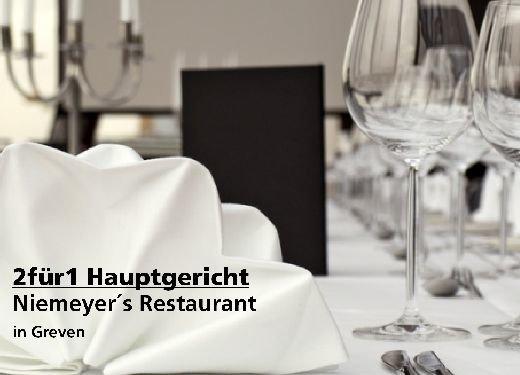 2für1 Gutschein Hauptgericht - Niemeyer´s Restaurant in Greven