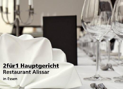 2für1 Gutschein Hauptgericht - Restaurant Alissar in Essen