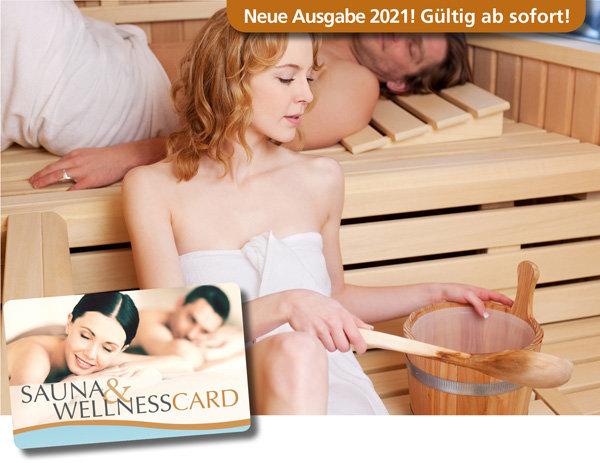 Sauna Wellness Card ein Gutscheinbuch in einem handlichen Scheckkartenformat im Ruhrgebiet 2 für 1 oder Single Gutscheinen für Sauna Wellness Massagen Salzgrotten