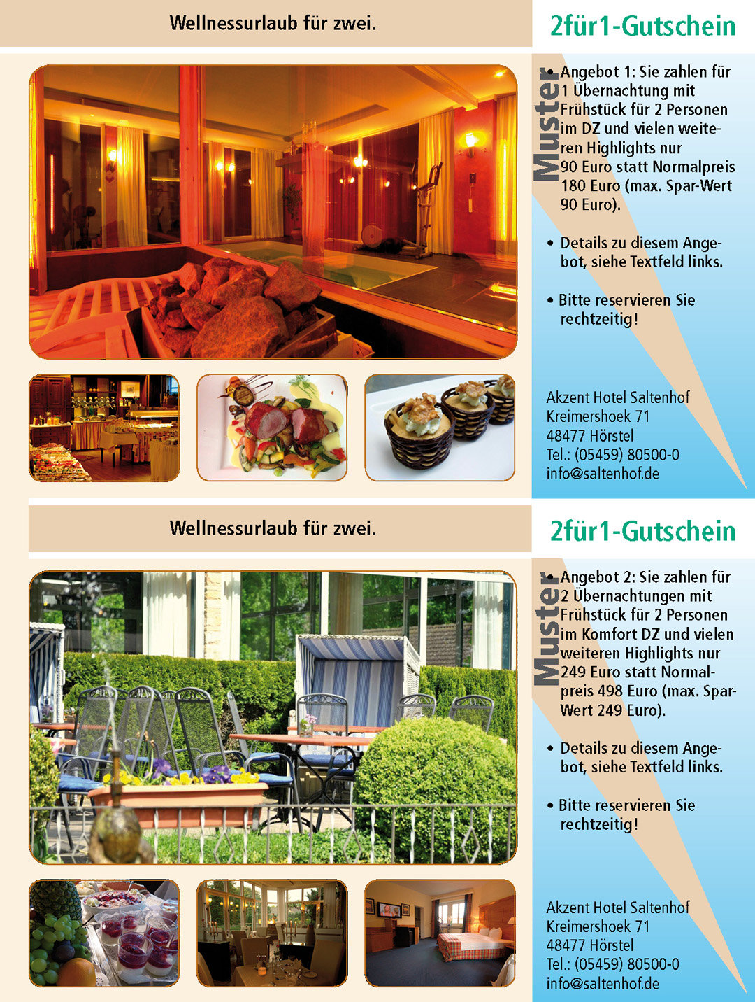 2 für 1 Gutschein-Wellness-Ruhrgebiet-Akzent-Hotel-Saltenhof-Hörstel