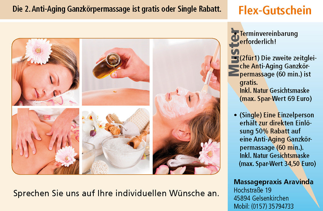 Wellness Gutschein Massage Anti-Aging