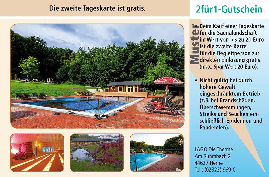 Sauna Gutschein LAGO Die Therme Herne Ruhrgebiet