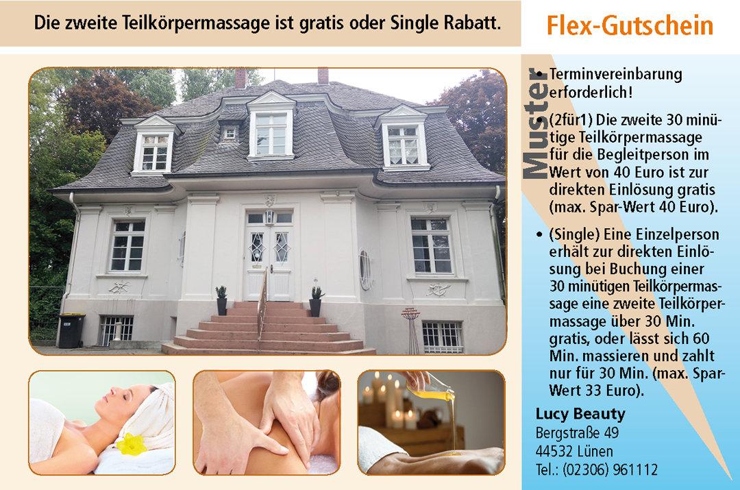 2 für 1 Gutschein Ruhrgebiet Gutschein Teilkoerpermassage