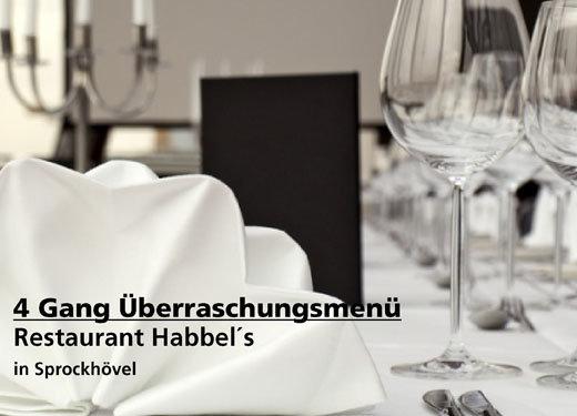 4 Gang Überraschungsmenü -  Restaurant Habbel´s in Sprockhövel