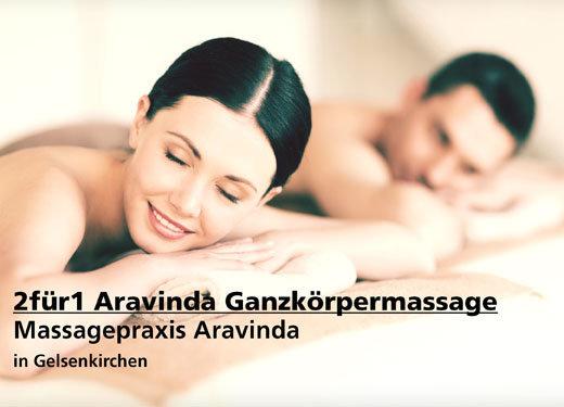 2für1 Aravinda Ganzkörpermassage - Massagepraxis Aravinda - Nach Ausdruck maximal 30 Tage gültig!!!