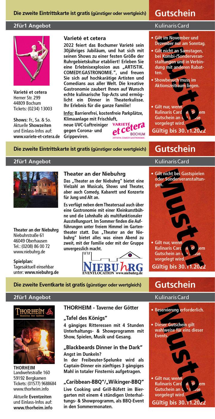 Theater an der Niebuhrg www.niebuhrg.de Varieté et cetera www.variete-et-cetera.de